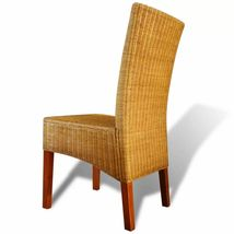 vidaXL 2/4/6x Dining Chair Rattan Brown Handwoven Kitchen Furniture Home Seat image 3