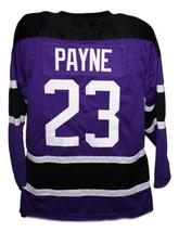 Martin Payne #23 Morris Brown College TV Show Hockey Jersey New Purple Any Size image 2