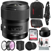 Sigma 35mm f/1.4 DG HSM Art Lens for Nikon DSLR Cameras w/Deluxe Photo and Trave - $929.00
