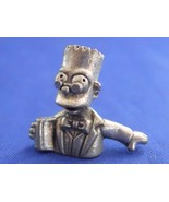 Clue Simpsons Bart Prof. Plum Token Replacement Pewter Piece 1st Edition... - $9.99