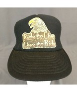 Ride to Live Live to Ride Eagle Snapback Hat Black Baseball Mesh Trucker... - $24.14