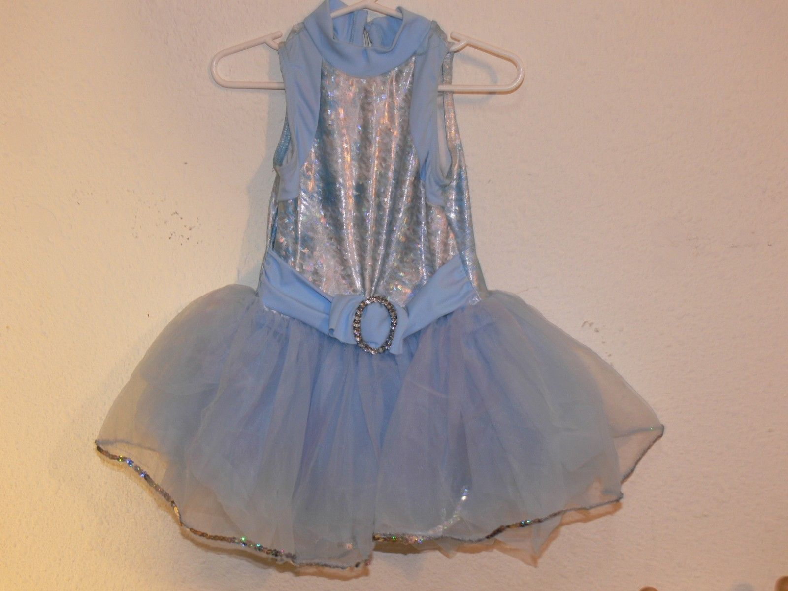 Primary image for Light Blue Dance Dress Leotard Tutu Skirt Ballet Costume Girls Size SC jw