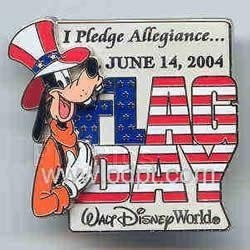 Disney WDW Goofy 3D flag day Limited Edtion pin/pins