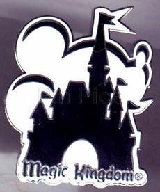 Disney WDW Magic Kingdom Black/White  pin/pins