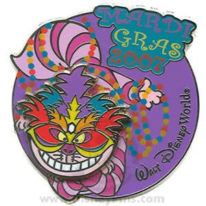 Disney WDW Mardi Gras Alice Cheshire Cat  pin/pins