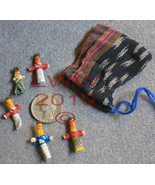 Guatemalan Worry Dolls in Drawstring pouch - $1.95