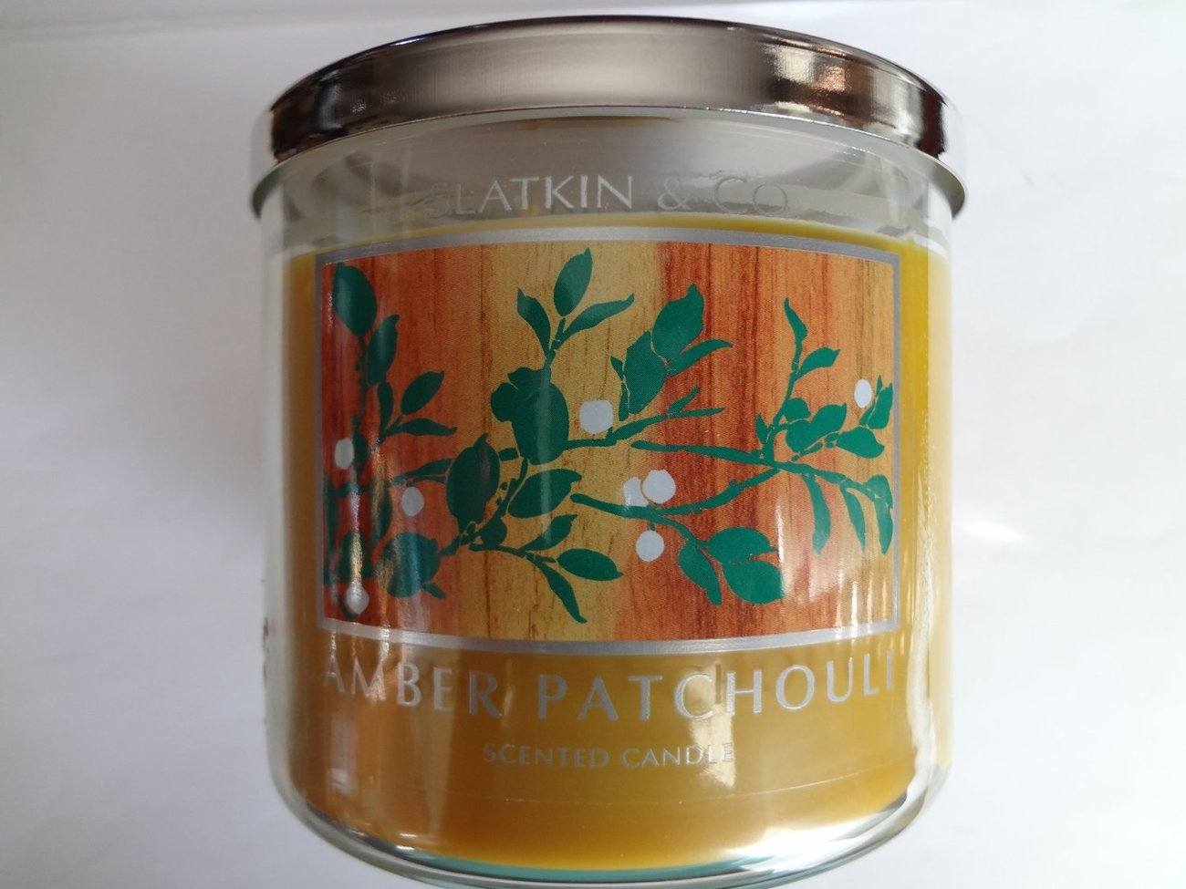 Bath & Body Works Slatin & Co. AMBER PATCHOULI Scented Candle 14.5 oz/ 411 g