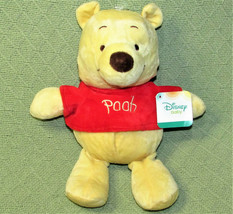 Disney Baby Winnie The Pooh Rattle Stuffed Animal Plush Baby Doll Toy With Tag - $23.76