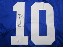 ELI MANNING / AUTOGRAPHED NEW YORK GIANTS BLUE PRO STYLE FOOTBALL JERSEY / COA image 3