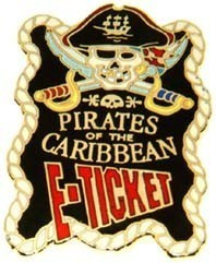 Disney WDW Pirates Of The Caribbean E-Ticket  Pin/Pins