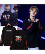A Kpop Bangtan Boys JIMIN Women Hoodies Sweatshirts Flower Streetwear Ha... - $17.99