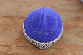 Kyrgyzstan Traditional Handmade Felt Hat Cap Tubeteika Embroydered Unise... - $14.99