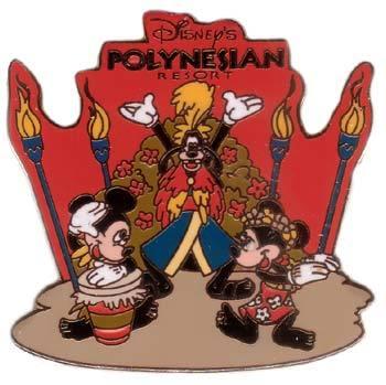 Disney WDW Polynesian Resort Luau Goofy Mickey pin/pins