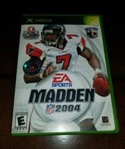 Madden NFL 2004 Microsoft Xbox EXMT **Inv02749** - $4.62
