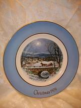 AVON CHRISTMAS PLATE 1979 DASHING THROUGH THE SNOW - $5.93