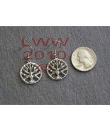 Tree of Life Wiccan Pagan Pewter Earrings NEW - $12.85