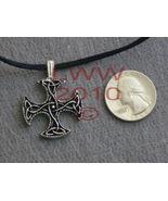 Equal Arm Triquetra Celtic Knot Cross Amulet Necklace - $6.85