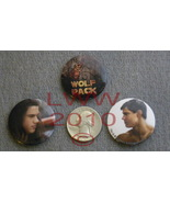3 Licensed NECA Jacob Wolf Pack Twilight New Moon Button Pin - $2.50