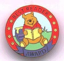 Disney  Winnie Pooh Best Reader Award Pin/Pins - $39.99