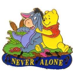 Disney  Winnie Pooh & Eeyore Rare Never Alone Pin/Pins