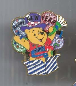 Disney Winnie the Pooh Happy New Year Pin/Pins
