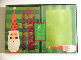 christmas cards box of 16 with  Envelopes  Santa Clause   NIB - $6.30