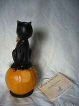 Bethany Lowe Black Cat Halloween Kitty on a Jack O Lantern Pumpkin image 3