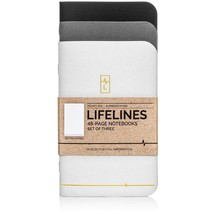 Lifelines Small Pocket Dotted Notebook Gold Line | Mini Bullet Journal f... - $11.62