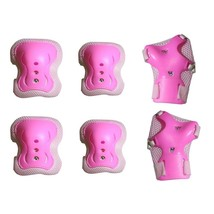 Kids Sport Protective Pads Elbow Knee Wrist Protective Gear Pads Set Pink M - $11.80