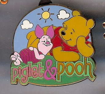 Disney Winnie The Pooh & Piglet laying down pin/pins