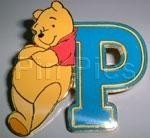 Disney Winnie the Pooh - Pooh Leaning on Letter P Japan pin/pins