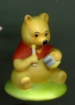 Disney Winnie the Pooh Procelain  Miniature Figuine - $21.06