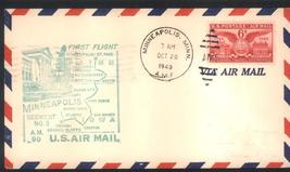 6 cents Air Mail First Flight Oct 20, 1946 Minneapolis to Omaha - $3.99