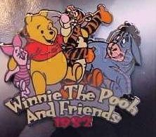 Disney Winnie the Pooh Tigger Eeyore dated1982 Pin/Pins