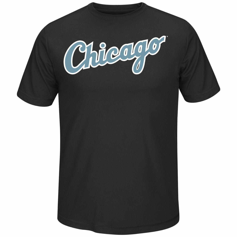 MLB Chicago White Sox Men's Crew Neck Synthetic Tech Tee Black XL NWT Ships Free - $14.50