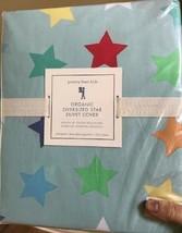 Pottery Barn Kids Oversized Star Duvet Cover Set Blue Queen 2 Standard Shams - $119.00