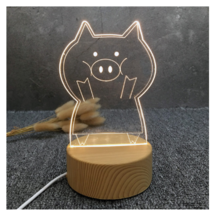 3D LED Lamp Creative Wood grain Night Lights Novelty Illusion Night Illusion 10 - $12.40