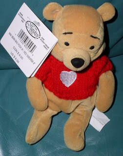 Disney Winnie the Pooh with red sweater with Heart