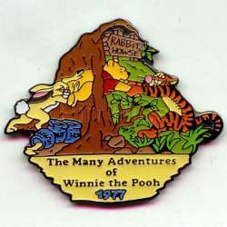 Disney Winnie Tigger Rabbit House dated 1977 Pin/Pins