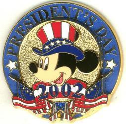 Disney patriotic Mickey Mouse President's Day pin/pins
