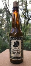 Dr. J Fogwarth's Tonics & Elixers Collector Bottle Amber Brown Glass Corked - $12.50