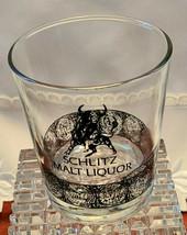 "SCHLITZ MALT LIQUOR VINTAGE GLASS TUMBLER - 1970'S - APPROX. 3"" X 3"" image 2"