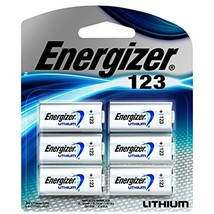 Energizer 123 Lithium Battery, 6-Count Long Lasting Performance 10 Years... - $19.42