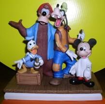 Disneyana Barbershop Quartet Donald Goofy etc Figurine - $365.00