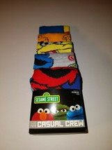 sesame street mens casual crew socks five pairs fits shoe sizes 8 to 12 ... - $19.95