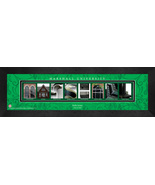 Personalized Marshall University Campus Letter Art Framed Print - $39.95