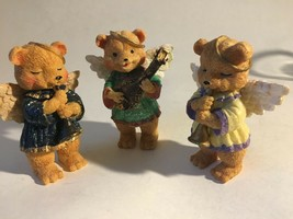 "3 Bear Angels Musical Band Instruments Resin Figurine 4"" - $15.11"