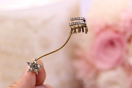 NEW AUTH Christian Dior 2019 J'ADIOR EARRINGS GOLD STAR CRYSTAL DANGLE image 2