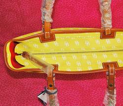 Dooney & Bourke Gretta Yellow Leisure Shopper Tote image 4
