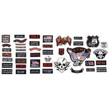 42pc Embroidered Motorcycle Biker Patch Set Patches Live to Ride Wholesa... - $35.99